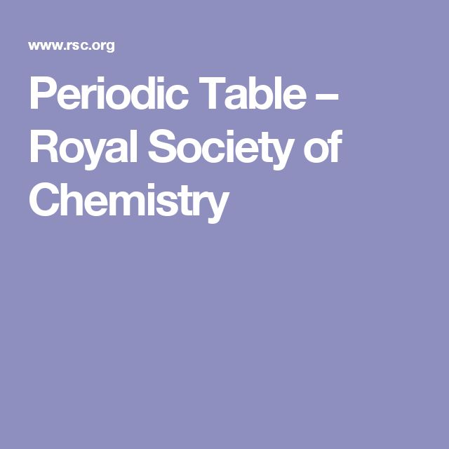 Periodic Table – Royal Society of Chemistry