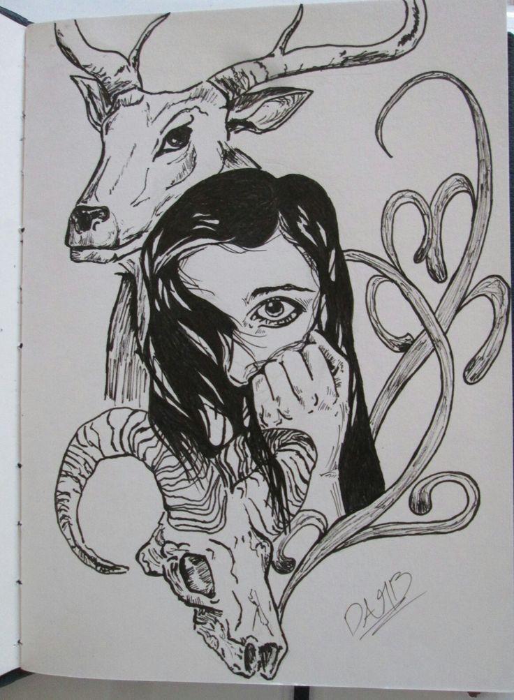 Bocetando con lápiz y finalmente un poco de tinta  #sketch #draw #drawing #sketchdrawing #inkdrawing