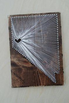 Nevada String Art State string Art Nevada Nail by witheyesunlocked