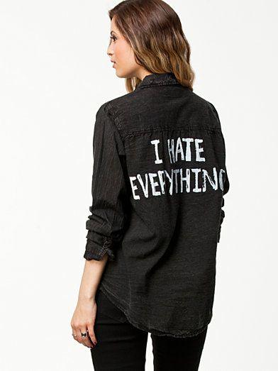 Attitude Shirt - Sally&Circle - Grå - Bluser & Skjorter - Tøj - Kvinde - Nelly.com