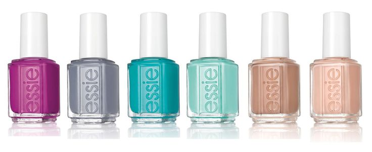 Essie x Rebecca Minkoff - Spring 2015 collection - Shades from left: Flowerista, Petal Pushers, Garden Variety, Blossom Dandy, Picked Perfect, Perennial Chic