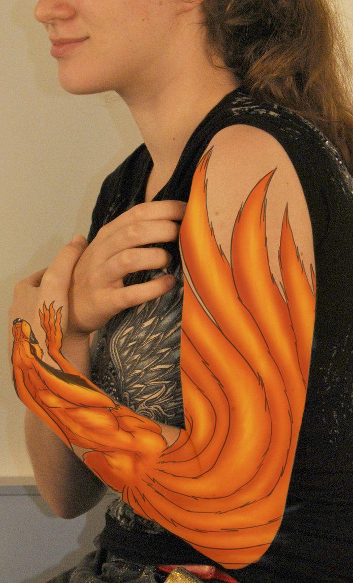Resultado de imagem para naruto tattoo kurama                                                                                                                                                                                 Mais
