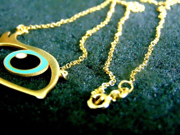 Silver Necklace,Gold Plated Sterling Silver and Enamel Necklace,Unusual Silver Jewelry for Women,Gift Idea for Her,Artisan Jewelry,Greek Art by ArchipelagosBreeze on Etsy