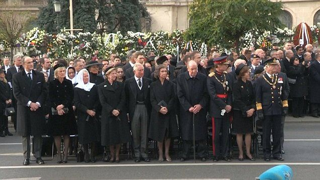 Prince Charles and fellow European royals joined tens of thousands of Romanians for the funeral of late King Michael I in Bucharest.