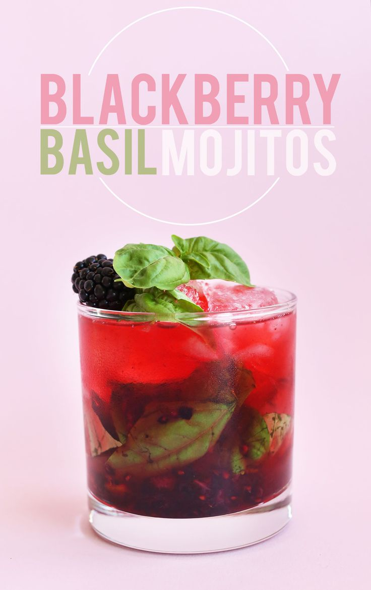 EASY Summery Blackberry Basil Mojitos! Perfect tart, sweet and SO refreshing…