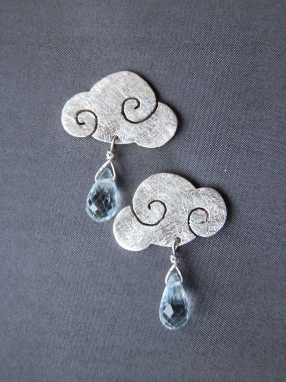 Earrings SWEET CLOUDS in sterling silver di calcagninigioielli, $59.00