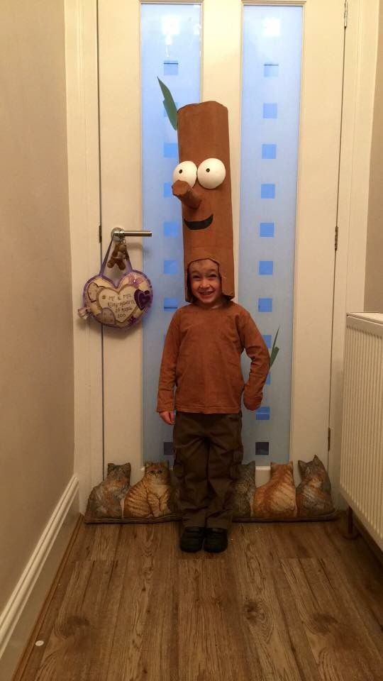Stick man costume for world book day