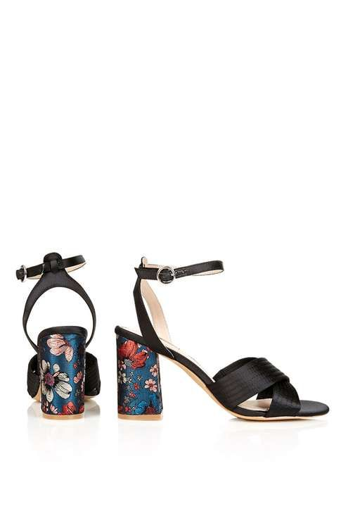 Rich Satin Cross Strap Sandals • TopShop