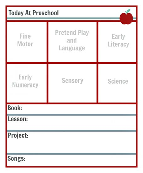 FREE LESSON PLANNING TEMPLATE FOR PRESCHOOL LESSON PLAN