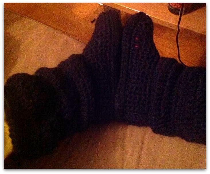 Boots - Vuxna - Svarta via ZittensCrochet. Click on the image to see more!