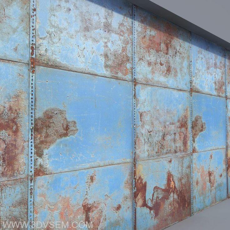 Текстура  металла ржавых стальных стен