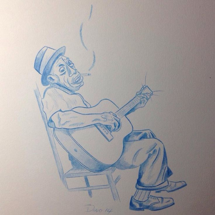 Blues man sketch