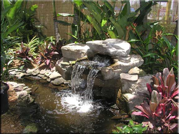 576 432 landscape pinterest pond for Tiered pond waterfall