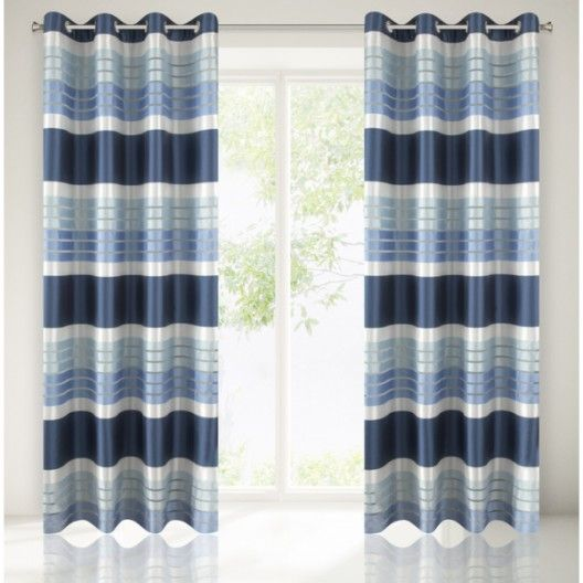 Tmavo modre hotove zavesy do izby