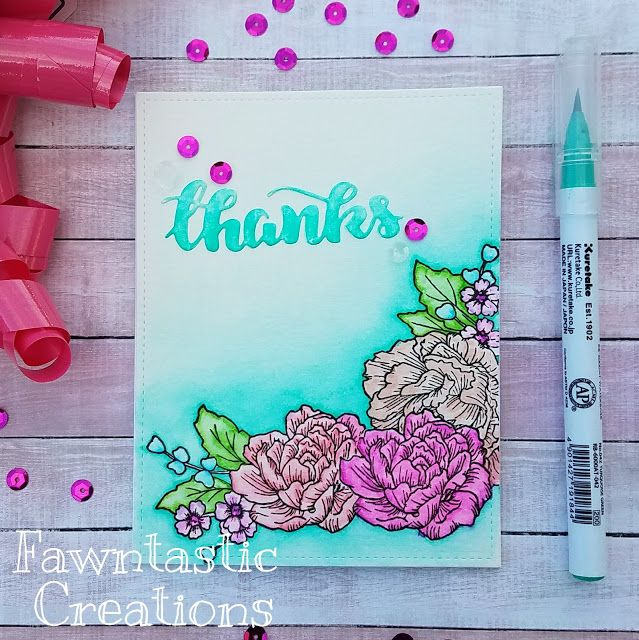 ☆ Fawntastic Creations ☆  strawberry jude stamps  thank you