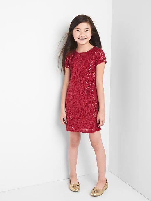 Gap Girls Ruby Sequin Dress Red Size XXL