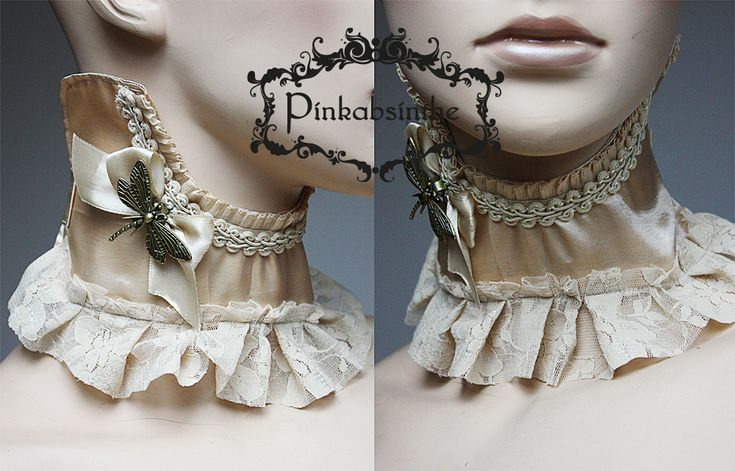 Ivory dragonfly collar by Pinkabsinthe on DeviantArt