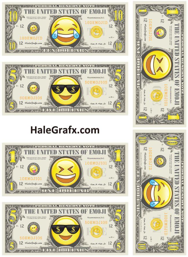 433 best Emoji Printables images on Pinterest Birthdays - play money template