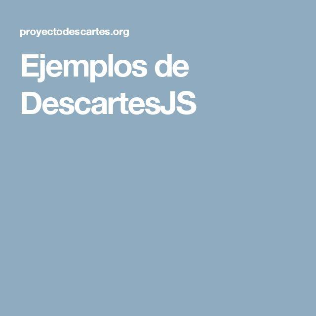 Ejemplos de DescartesJS