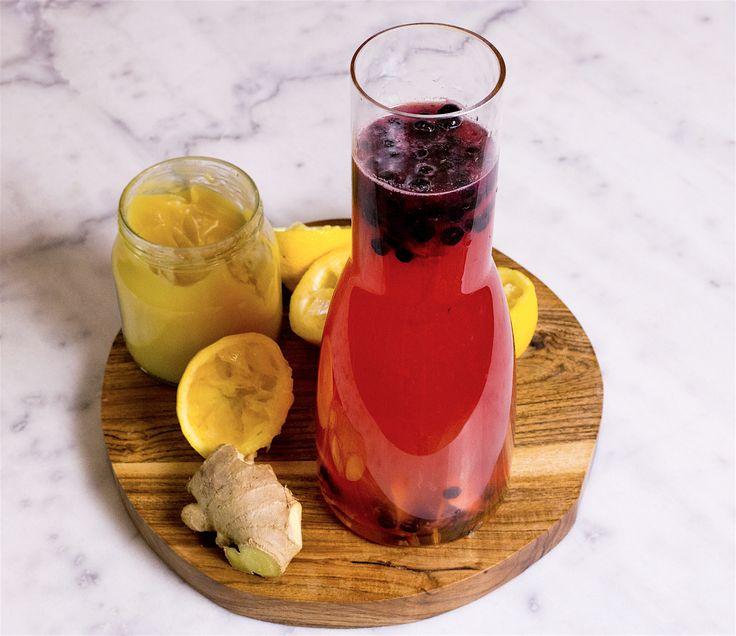 Superdrink med ingefära, citron och honung