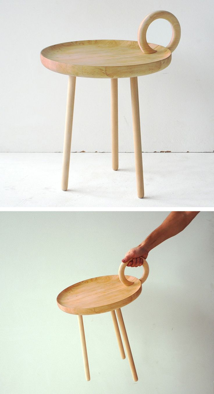 Ola giertz has designed the o table a small wood table for Stuhl design analyse
