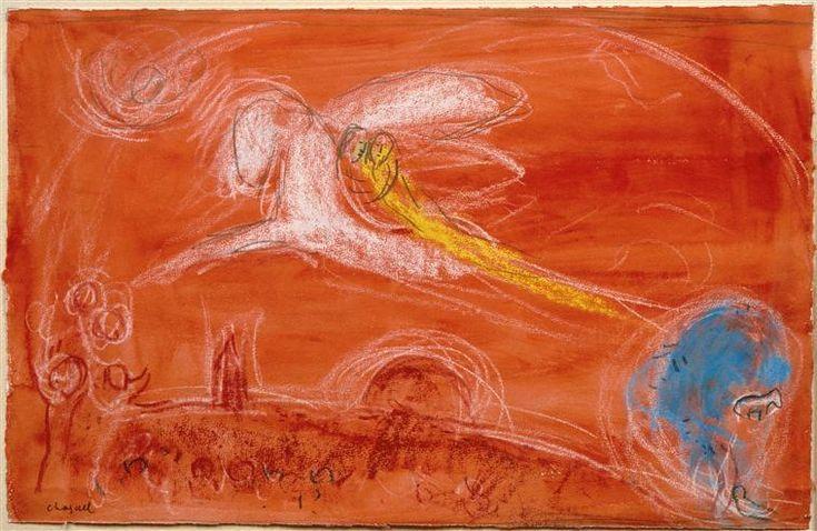'Cantico dei Cantici IV', pastello di Marc Chagall (1887-1985, Belarus)