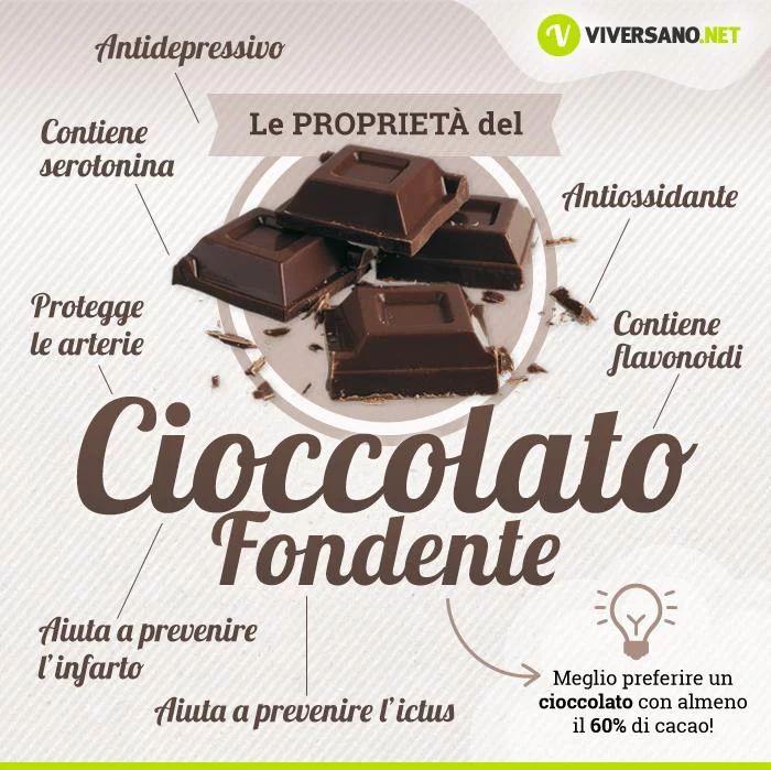 CIOCCOLATO FONDENTE: le proprietà e i benefici Il cioccolato fondente fa bene sotto tanti punti di vista: al sistema cardiovascolare, all'umore e al pal... - Viversano - Google+