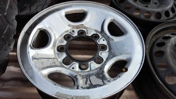 4 Steel Rims With Chrome Finish fit GMC 8 LUG (Chula Vista) $100