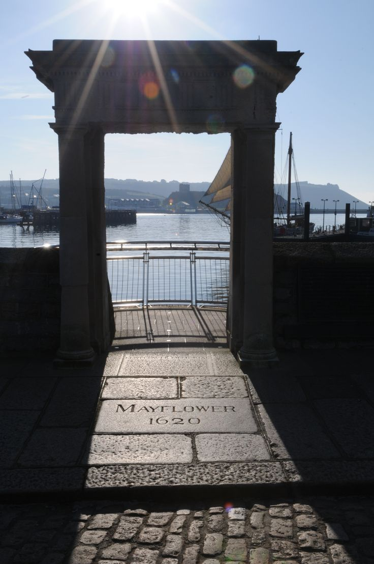 Mayflower Steps -  The Mayflower Steps are close to the site in the Barbican area of Plymouth, south-west England, from which the Pilgrim Fathers are believed to have finally left England aboard the Mayflower, before crossing the Atlantic Ocean to settle in North America on 6 September 1620. The traditional site of their disembarkation in North America is Plymouth Rock.