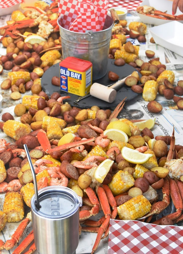 Summer Crab Boil Party, Seafood Party, Crawfish Party