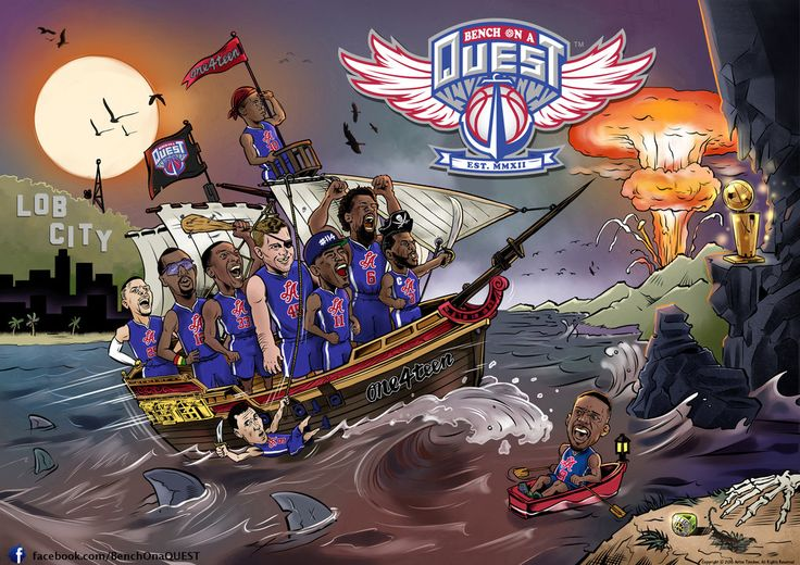 #ClipperNATION that's the new #BenchOnaQUEST artwork. It's an honor to pay tribute to the #One4teenFam For the high-res pic, go to: www.Facebook.com/BenchOnaQuest Let me know what you think? Shout-out to Julian Yeh (Taiwan) and to my compatriot Dilom (Bulgaria) for collaborating with me on this! #114Fam #ThisIsHowWeDo #BeRelentless #BeaFanNOTaSpectator #114knows #CP3knows #JamalKnows #LouderThan114 #LouderThanDense #TogetherWeWILL #Clippers #BasketballSwag