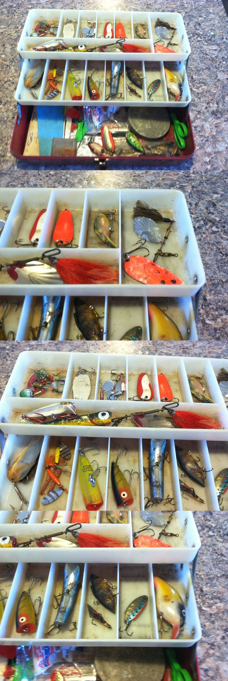Lures 36169: Old Vintage Victor Fishing Tackle Box Full Of Lures Gear Stuff -> BUY IT NOW ONLY: $59.99 on eBay!