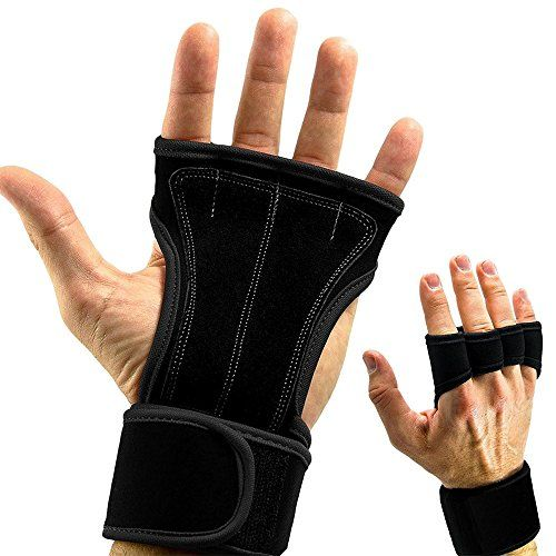 Fashion Pro Weight Lifting Gloves Gym Fitness Half Finger Gloves with Wrist Wrap for Crossfit Powerlifting Weightlifting Cross Training Workout Exercise Sports Body Building Large -- Be sure to check out this awesome product.