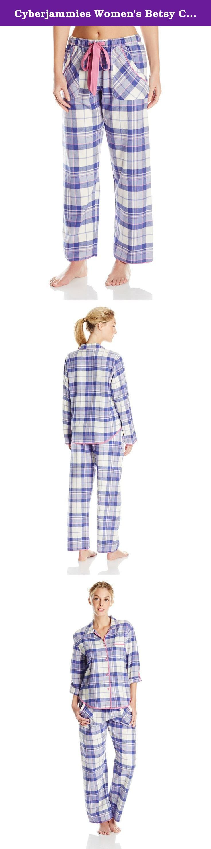 Cyberjammies Women's Betsy Check Pajama Set, Purple Mix, 12/Large. Cyberjammies offer exceptional quality nightwear and lounge wear, too good to sleep in. Our fabrics are extra soft and specifically designed for comfort in bed. Our colors, trims and styling are fun and different. Fit is comfortable, yet feminine to ensure you look stylish in the bedroom or on the sofa.