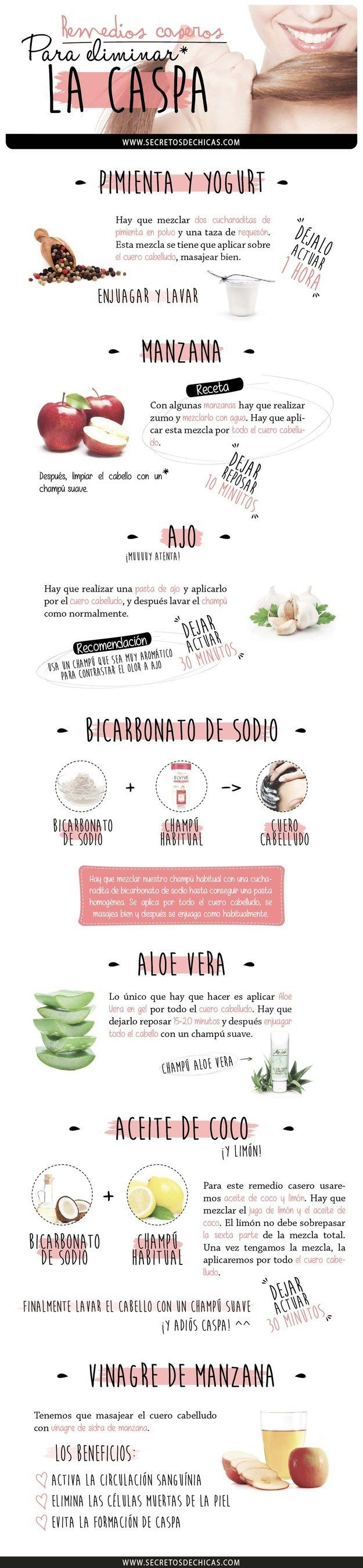 Remedios caseros para eliminar la caspa