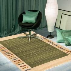 Alfombras contemporaneas de lana : Modelo OPORTO Verde