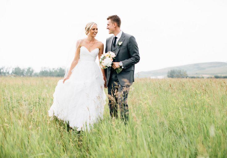 An Elegant Wedding With Rustic Charm | Weddingbells Michelle & Michael Stone married July 2015 at Sirocco Golf Club in Calgary, Alberta.  Flowers by Janie- Calgary Wedding Florist www.flowersbyjanie.com