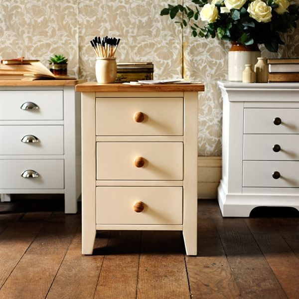Mottisfont Painted Bedside Table from The Cotswold Company. Free Delivery & Free Returns. Country Furniture, Bedroom Furniture, Cream Bedroom Furniture, Bedside Table, Bedside Drawers.