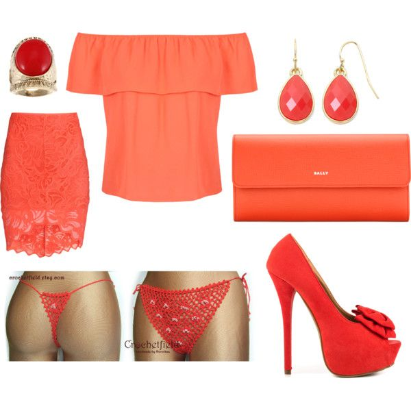 Coral wonders by crochetfield on Polyvore featuring moda, Miss Selfridge, H&M, JustFabulous, Bally and Liz Claiborne
