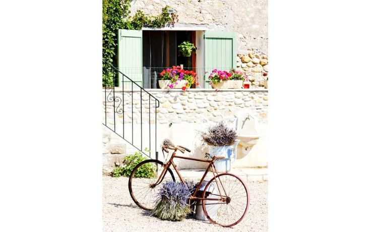 Stampa su tela bicicletta 50x70x2.5 foto 1