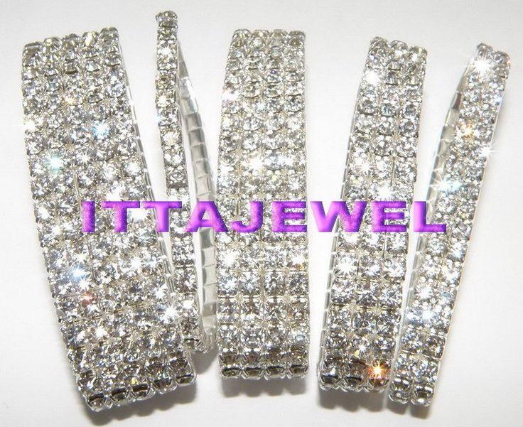 Wholesale 12Pcs five row rhinestone bracelet,bridal bracelet,wedding bracelet,free shipping