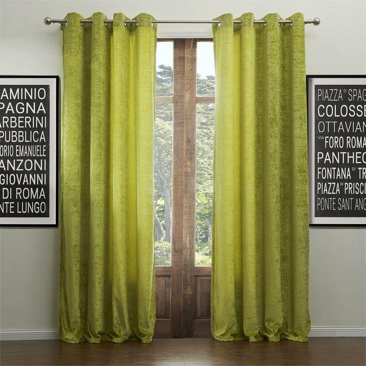 Classic Resurrection Chenille Solid Eco-friendly Curtain   #curtains #decor #homedecor #homeinterior #green