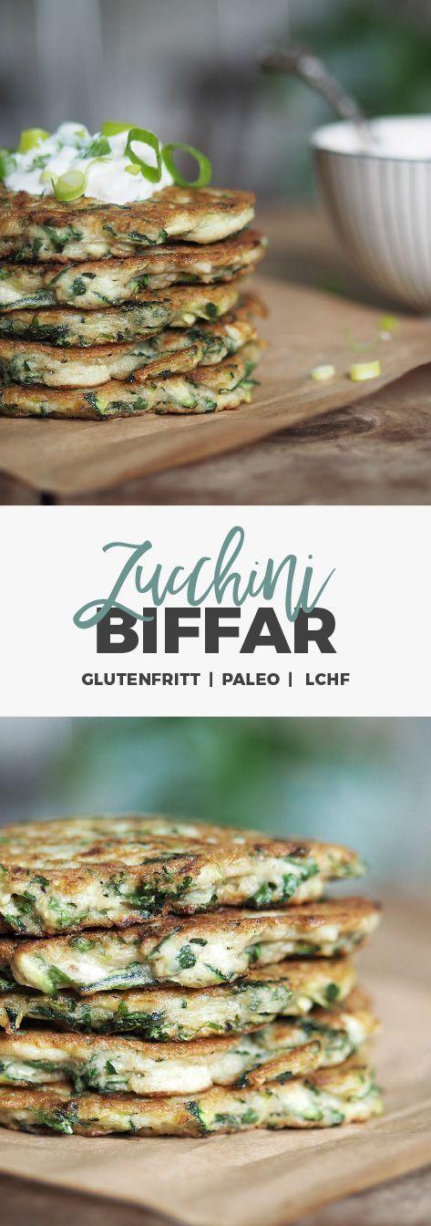 Recept: Zucchinibiffar / Zucchinifritters. Glutenfria, paleo, LCHF
