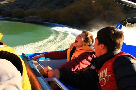 The jet boat tour on the Roxburgh Gorge Trail - experience it!  History, photo opportunities, spins!