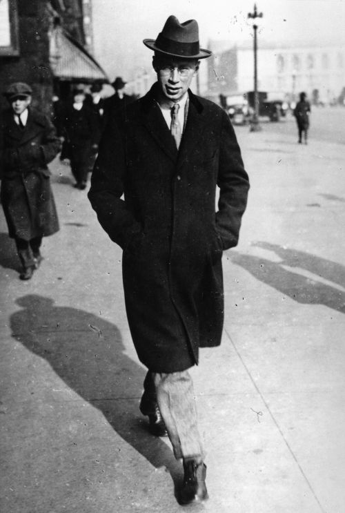 | Sergei Prokofiev walking along Michigan Avenue...