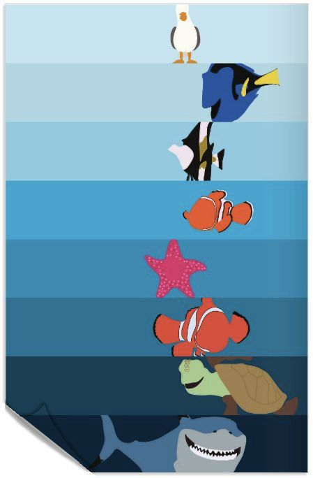 Hey, I found this really awesome Etsy listing at https://www.etsy.com/listing/163355251/disney-pixar-finding-nemo-poster