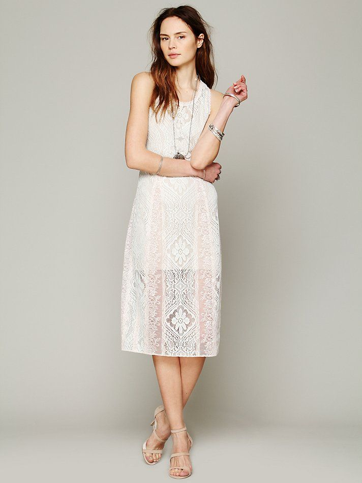 free people free people miracle lace midi dress 6995