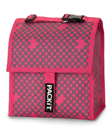 Look at this #zulilyfind! Pink & Gray Lunch Cooler by PackIt #zulilyfinds... We use this to transport out daughters bottles