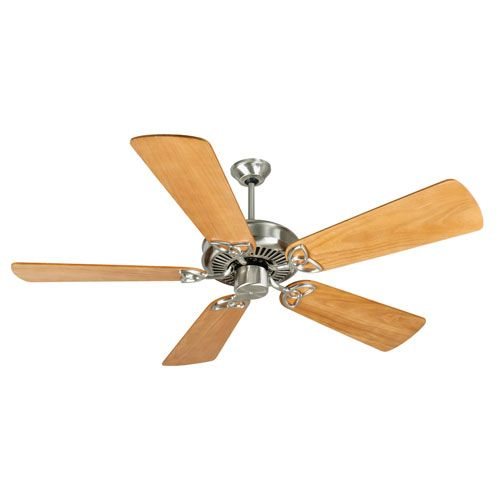 CXL Stainless Steel Ceiling Fan with 54-Inch Premier Distressed Oak Blades