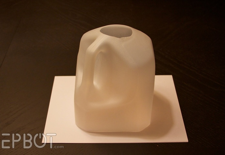 Milk Jug Photo Studio: cut off the top and bottom, place on white paper, & shoot through the top hole! Perfect for photographing jewelry & small items.